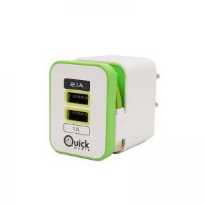 QUICK MEDIA - CARG/CASA/GR/2 USB(2,1+1A)+CABLE MICUSB (QMSWCG)