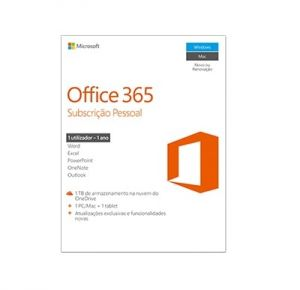 MICROSOFT - MST OFFICE 365 PERSONAL 32/64 PT SUBSC 1YR  M