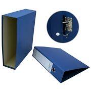 CARTONEX - Pasta Arquivo L80 310x290 c / Cx.Fixa Ref 200CC Azul