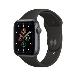 APPLE - Watch SE GPS 44mm Cinzento Sideral com Bracelete Desportiva Preta - Regular