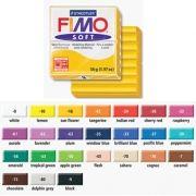 FIMO - Pasta de modelar FIMO Soft Framboesa 56grs: 55X55X15mm: Dividido em 8 parcelas: Lisa e Macia: Facil de Misturar: Pronta para Usar: Cor Vibrante