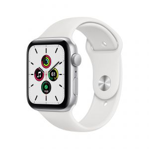 APPLE - Watch SE GPS 44mm Prateado com Bracelete Desportiva Branca - Regular