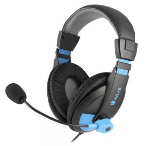 NGS - Microphone - Jack 3.5mm Quilted Earcup - Preto/Azul