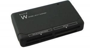 EWENT - LEITOR CARTÕES EXTERNO. USB 2.0. PRETO (EW1050)