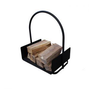 VELLEMAN - Cesto de lenha em metal fundido em negro 42x30x46cm