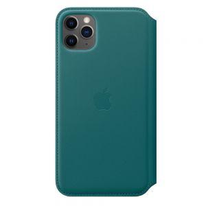 APPLE - Capa Folio em pele para iPhone 11 Pro Max - Pavao