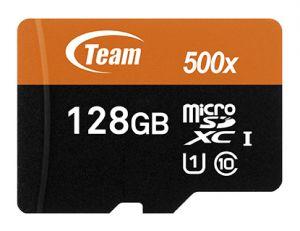 TEAMGROUP - Flash card Micro-SD128GB UHS-I 500x