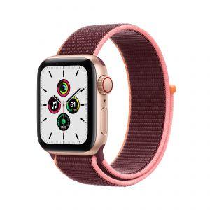 APPLE - Watch SE GPS + Cellular 40mm em Aluminio Dourado com Bracelete Loop Desportiva Ameixa