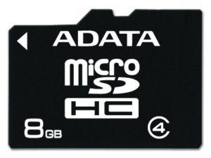 ADATA - Cartão 8 GB Class 4 microSDHC - AUSDH8GCL4-R