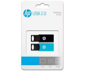 HP - Pack 2x Pendrive 64GB Azul/Preto - FD212-64-TWIN