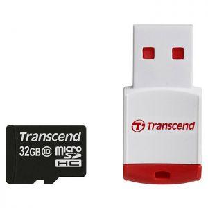 TRANSCEND - 32GB MICROSD 10 LECTOR USB TARJET