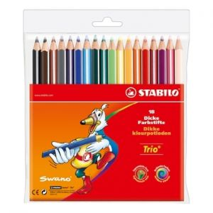STABILO - Lapis Cor 18cm Stabilo Color Carteira Plastica 18un