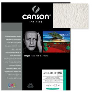 CANSON - Papel Canson Infinity Aquarelle Rag A4 100% 310gr 10Fls
