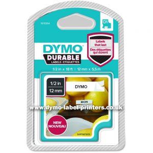DYMO - D1 DURABLE 12MM X 5 5 M NEG/BLA