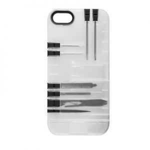 IN1 - MULTI-TOOL CASE IPHONE 5/5S/SE (CLEAR/BLACK TOOLS)