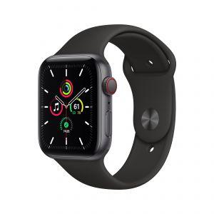 APPLE - Watch SE GPS + Cellular 44mm em Aluminio Cinzento Sideral com Bracelete Desportiva Preta