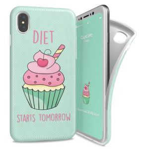 I-PAINT - SOFT CASE IPHONE X (CUP CAKE)