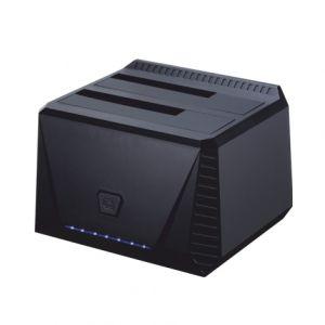TOOQ - DOCK TQDS-902B 2xSATA 25P/35P USB 3.0 CLONE OTB PRETO