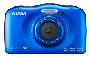 NIKON - Coolpix W100 BLUE + Mochila - 13,2Mp-Zoom 4x VR-Sub10m-SnapBrigde -Full HD - 999W100BL