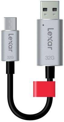 LEXAR - USB 3.0 C20c 32GB - cabosync+armazenamento-USB-C