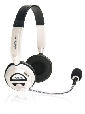 NGS - HeadPhone + Microfone - côr: Branco
