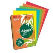ADAGIO - Papel Fotocopia Adagio A4 80gr Cores Intensas 5x40 Folhas (Amarelo:Azul:Verde:Vermelho:Laranja) Ref.ª 24875
