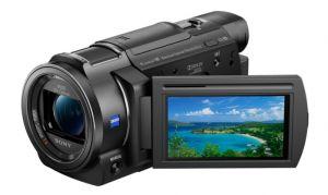 SONY - Handycam AXP33 - Gravação 4K Ultra HD (3840 x 2160): Lente ZEISS Vario-Sonnar T* de 29:8 mm: Zoom ótico de 10x: Ecrã LCD Xtra Fine (921 600 pontos) panorâmico (16:9) de 7:5 cm (tipo 3.0): Wi-Fi® e NFC