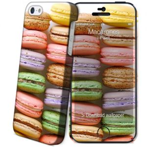 I-PAINT - Hard Case+Skin iPhone 5 / 5S (macarons)