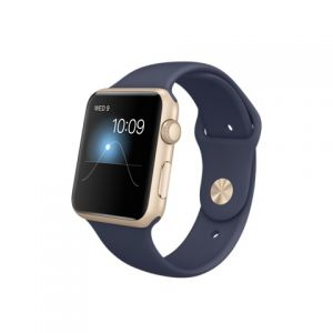 APPLE - Watch SPORT 42mm Gold Aluminium Case with Midnight Blue Sport Band