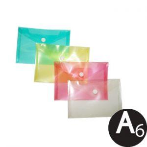 SMARTD - Envelope Plástico A6 Transparente Sortido 1un (min. 12 un.)