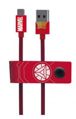 TRIBE - CABO MARVEL USB-MICROUSB (IRON MAN)