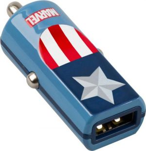 TRIBE - BUDDY CAR CHARGER 2.4A MARVEL (CAPTAIN AMERICA)