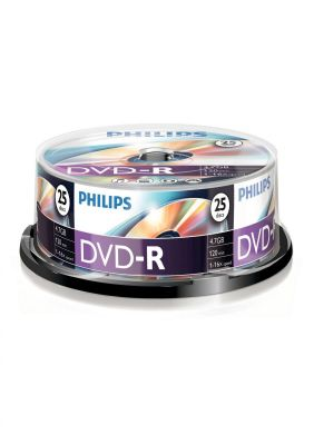 PHILIPS - DVD-R 4,7GB 16x Cakebox (25 unidades)