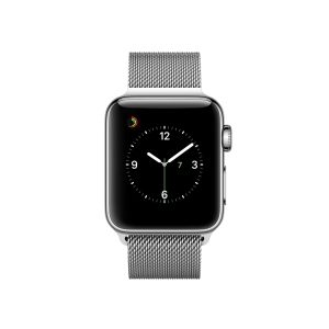 APPLE - Watch Series 2: 38mm Stainless Steel Case with Silver Milanese Loop
