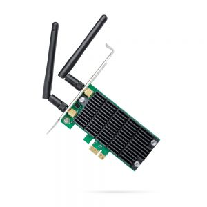 TP-LINK - AC1200 Wi-Fi PCI Express Adapter, 867Mbps at 5GHz + 300Mbps at 2.4GHz, Beamforming