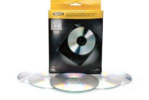 FELLOWES - PACK DE 100 SOBRES PLASTICO CD