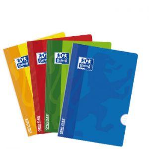 OXFORD - Caderno Agrafado Oxford Openflex Capa Plástico: A4: Quadriculado: 90grs: 48 Folhas: 4 Cores Azul: amarelo: verde e vermelho (min. 10 un.)