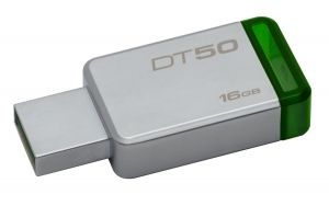 KINGSTON - DataTraveler 50 16gb USB 3.0 Metal/Green