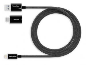 PHOTOFAST - Memórias Gen3 cabo adaptador de 1M com 64 GB - preto