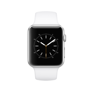 APPLE - Watch Series 1: 42mm Silver Aluminium Case with White Sport Band