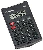 CANON - Calculadora de Bolso AS-8 HB Ecológica - Calculadora portátil de 8 dígitos com design em arco e uma tampa rígida com rotação de 360 graus