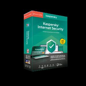 KASPERSKY - Internet Security 2020 2 Utilizadores 1 Ano + Carteira Anti-Roubo Contactless