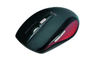NGS - Rato sem fios USB para notebook - Preto e vermelho
