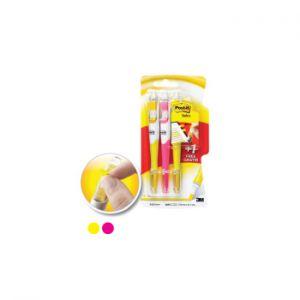 3M - Marcador Flurescente Pack 3 Rosa + Amarelo c / Amarelo Oferta (min. 12 un.)