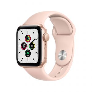 APPLE - Watch SE GPS 40mm Dourado com Bracelete Desportiva Rosa Areia - Regular