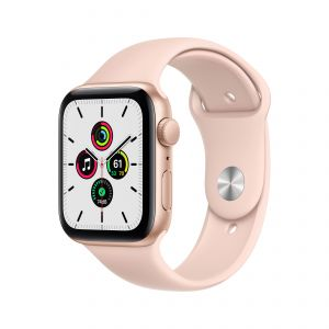 APPLE - Watch SE GPS 44mm Dourado com Bracelete Desportiva Rosa Areia - Regular