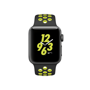 APPLE - Watch Nike+: 38mm Space Grey Aluminium Case with Black/Volt Nike Sport Band