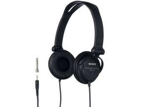 SONY - MDR-V150 Preto: Auscultadores para HIFI reversíveis para monitorização DJ: controlo com design dobrável: diafragma de 30 mm para um som de excelente qualidade: ficha estéreo Unimatch para utilização com diversos equipamentos de som