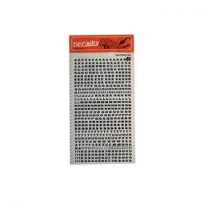 DECADRY - Etiquetas Numeros e Letras 3mm Decadry 64 - 1un