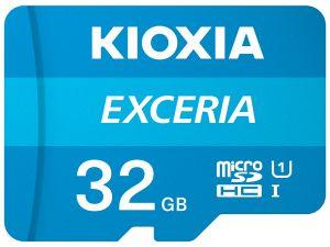 KIOXIA - MICRO SD 32GB EXCERIA UHS-I C10 R100 COM ADAPTADOR